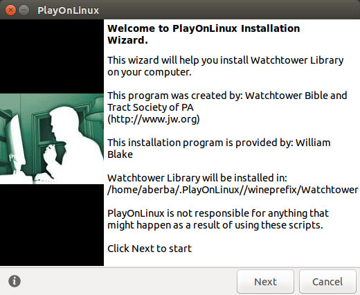 Watchtower Library Installation Wizard